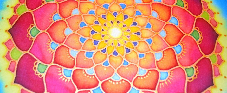 Mandala részlet, TV adásban festett