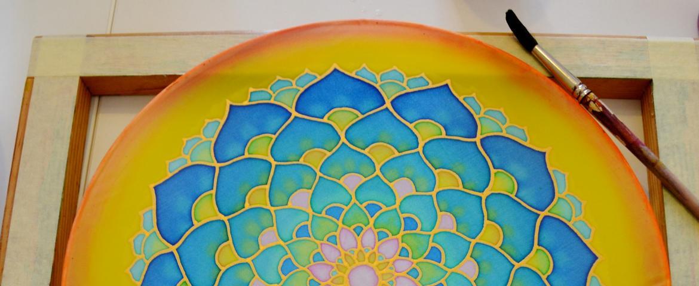 Mandala selyemfestés