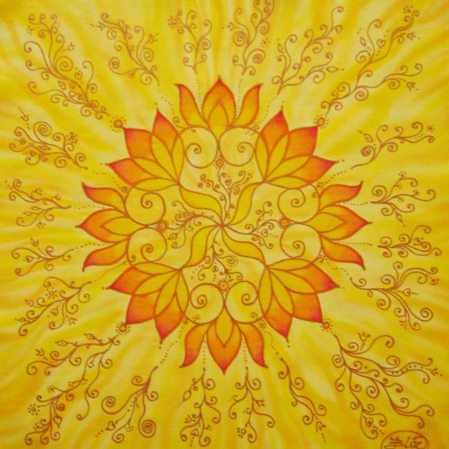 Öröm mandala, 40x40 cm, keretezve