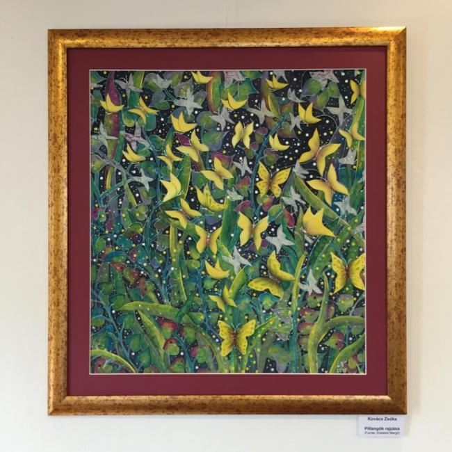 selyemfestmény kiállítás - Zsóka képe