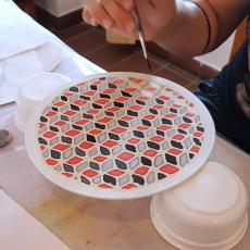 selyemkép készül