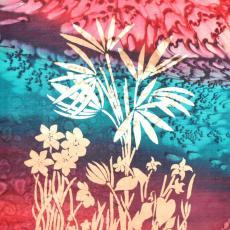 Növénycsoport színes térben, 28x39