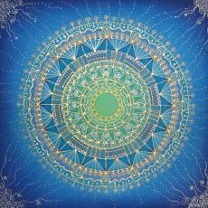 Csillagfény mandala, 40 cm