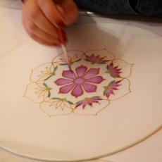 Mandalafestő tanfolyam, festés