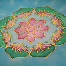 Mandalafestő tanfolyamon készült mandala