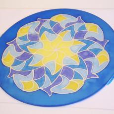 Mandala festés közben