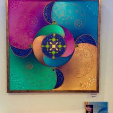 selyemfestmény kiállítás - Andi képe