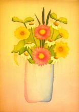 Akvarell festés selyemre