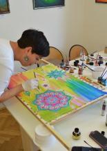 Selyemfestő alkotónap
