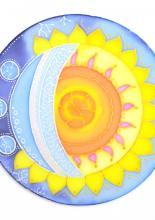 Napos-holdas mandala, Réka tanfolyami alkotása