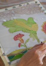 selyemfestő workshop