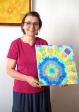 Selyemfestés tanfolyam zárónap - kedvenc selyem alkotással