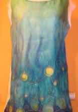 Gőzölős selyemfestékkel festett tunika