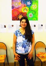 Kiállítás megnyitó Mandala Tanoda, Kati