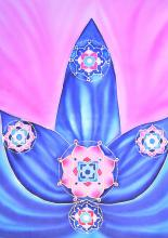 Mandala Tanoda - selyemkép, Éva
