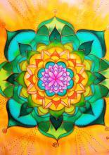 Mandala - selyemkép, Várnay Krisztina