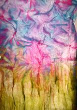 Műanyaglapos festés selyemre