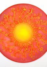 Nap mandala, tanfolyami alkotás