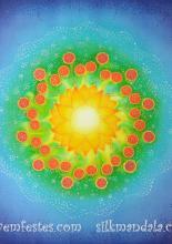 Személyre szólóan festett mandala,50x50 cm