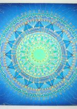 Csillagfény mandala, 40x40 cm