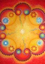 Szerelem mandala, 90x90 cm