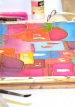 Viaszbatik selyemre tanfolyam alkotás